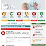 Screenshot HRA Results page